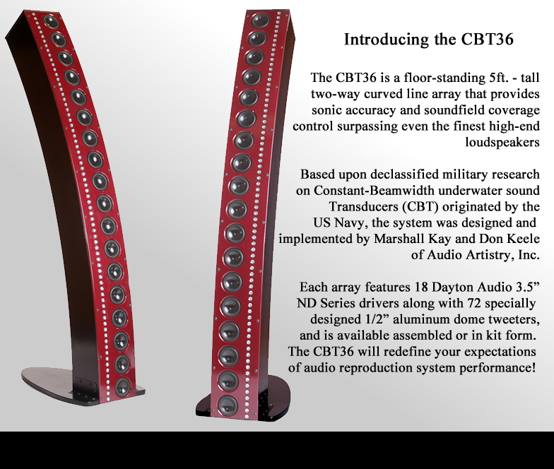 CBT36 Manufacturer of loudspeakers that focus on elimination of box resonances.